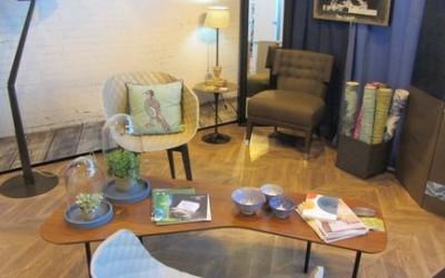 Stand déco bleu au salon Artois maison – Arras (62)