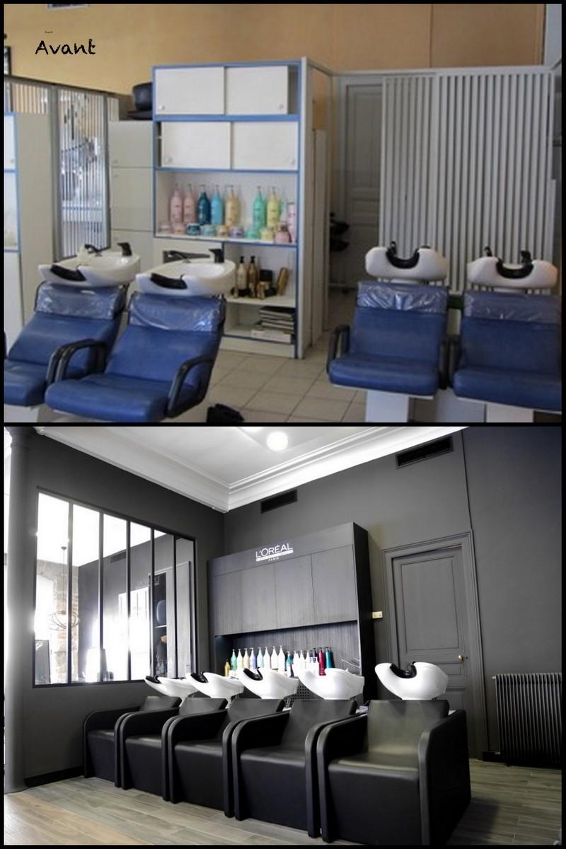 La d coration d un salon de coiffure alain domin reims for Salon o coiffure reims