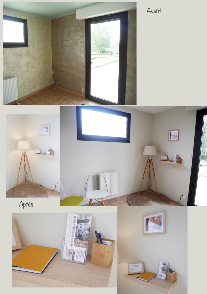 d coration d un cabinet de r flexologie plantaire anzin st aubin 62 dans l 39 air du temps. Black Bedroom Furniture Sets. Home Design Ideas