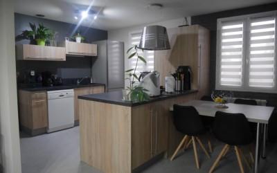 Décoration d'un séjour/cuisine – Pelves (62)