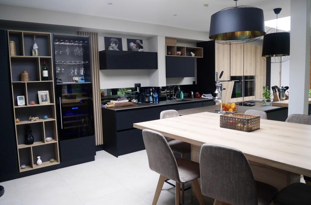 Décoration d'une cuisine et d'un salon – Béthune (62)