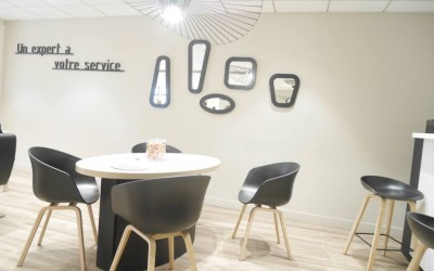 Décoration d'un salon de coiffure – Neuville en Ferrain (59)